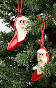 chili pepper santa ornaments set of 10 ornaments