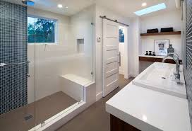 contemporary master bathroom with skylight by urban west zillow