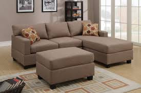 Reversible Sectional Sofa 3 Pcs Reversible Brown Sectional Sofa By Poundex F7495