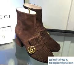 Brown Fringe Ankle Boots Gucci Fringe Leather Ankle Boots 408210 Suede Dark Brown 2016