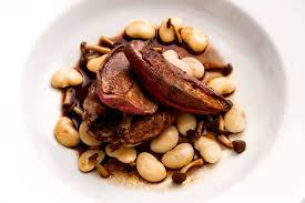 cuisine pigeon roast pigeon recipe with braised butter beans great chefs