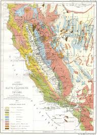 Map Of The Coast Of California Cgs History Geologic Maps Of California