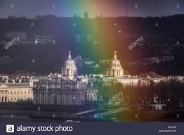 uk 5th march 2016 uk weather colourful rainbow breaks