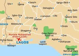 lagos city map nigeria maps and orientation nigeria west africa