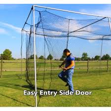 Batting Cage For Backyard by Cimarron Sports 24 Batting Cage Net With Frame Corners 50x12x10