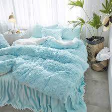 aliexpress com buy mink velvet white blue princess girls bedding