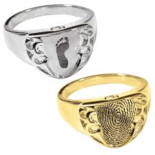 cremation jewelry rings customized fingerprint ring engravable cremation jewelry