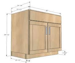 standard kitchen cabinet interesting kitchen sink cabinet size