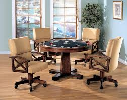 poker game table set marietta 5 pc 3 in 1 game table set by coaster 100171