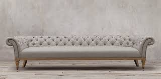 Chesterfield Sofa Linen Sofa Collections Rh Within Linen Chesterfield Inspirations 9