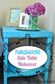 Turquoise Side Table Turquoise Side Table Makeover Tip Junkie