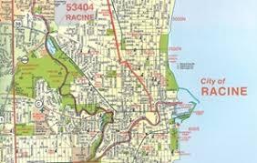kenosha map themapstore racine county and kenosha county wisconsin travel map
