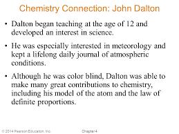 Was John Dalton Color Blind Chapter 4 Models Of The Atom By Christopher G Hamaker Ppt Download
