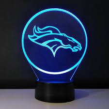 3d visual l team logo denver broncos light luminous table