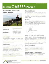 green business and career profiles