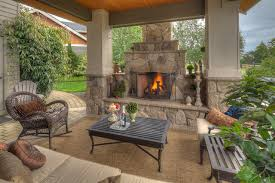 covered patio with fireplace keller property traditional patio portland by paradise