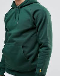 carhartt wip chase hoodie green men carhartt wip jacket sale where