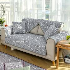 canapé matelassé foncé gris géométrique conception housse de canapé matelassé