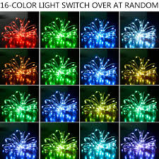 light switch color options led string lights dimmable with remote 13 colors options 50led