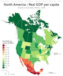 Map Of Puebla Mexico by Real Gdp Per Capita Throughout North America 2008 More In