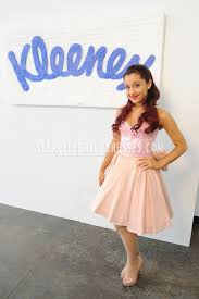 ariana grande pink short sequin sweetheart neckline dress tj