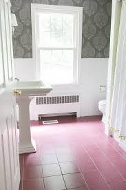 Tile Floor Designs For Bathrooms Wonderful How I Painted Our Bathrooms Ceramic Tile Floors A Simple