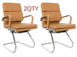 classic eames replica black leather visitor u0027s chair with chrome