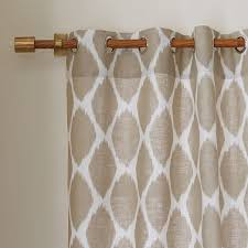 Target Linen Curtains Extraordinary Idea Ikat Curtains Ikat Ogee Linen Curtain Teal West