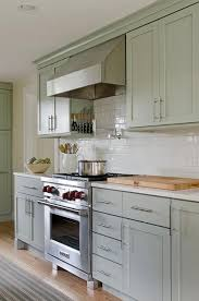 Wooden Cooktop Shelves With Pot Rack Transitional Kitchen - Magnetic backsplash