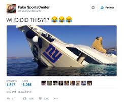 Funny Ny Giants Memes - was giants playoff implosion result of wr boat trip
