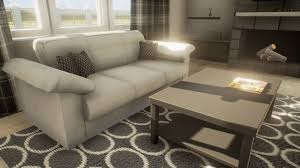 3d model sofa and coffee table game ready cgtrader