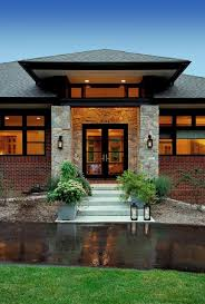 modern prairie style prairie style home contemporary entry detroit by vanbrouck