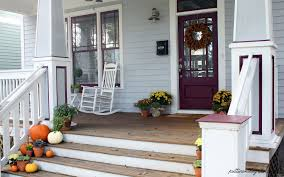 exterior cool picture of front porch decoration using aged light