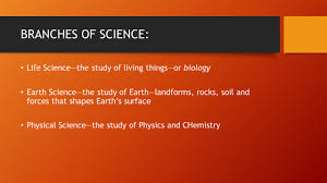 the nature of science the big idea how can science provide