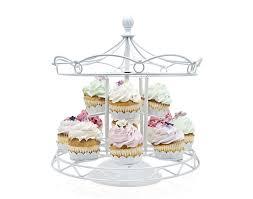 white metal carousel cupcake holder for 12 cupcakes 31 amazon