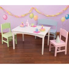 Kidkraft Nantucket 4 Piece Table Bench And Chairs Set Free