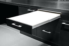 table coulissante sous plan travail tiroir avec plan de travail