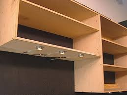 how to add under cabinet lighting how to install lights under shelving how tos diy