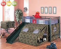 camouflage camo tent bunk bed fort kid loft bedroom free shipping