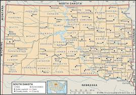 Counties In Utah Map by State And County Maps Of South Dakota