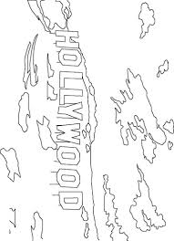 hollywood sign coloring page color book