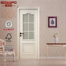 wood doors with glass inserts china white painting glass insert interior solid wood door gsp3