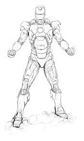 Sketch Of Iron Man Coloring Page Netart Coloring Page Iron