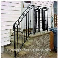 easy installation electrostatic spraying wrought iron balcony