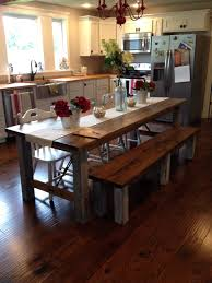 farmhouse kitchen table for a family of two