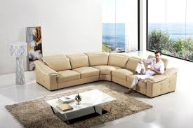 Designer Sectional Sofas by Furniture Elegant Beige Leather Couch For Comfort Your Home