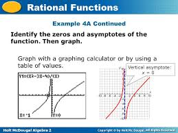 Graphing Calculator With Table Holt Mcdougal Algebra 2 Rational Functions Graph Rational