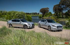 compare lexus vs bmw 2016 hyundai genesis vs lexus gs 350 v6 luxury car comparison
