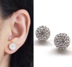 clip on earrings pave clip on earrings wedding clip on earrings