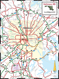 Baltimore Subway Map by Map Of Baltimore Md My Blog